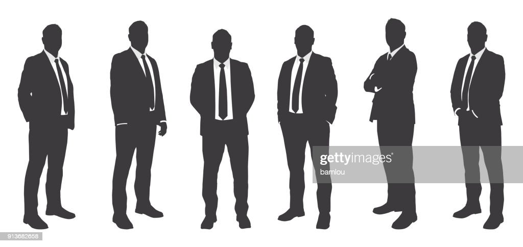 Six Businessmen Sihouettes : stock illustration