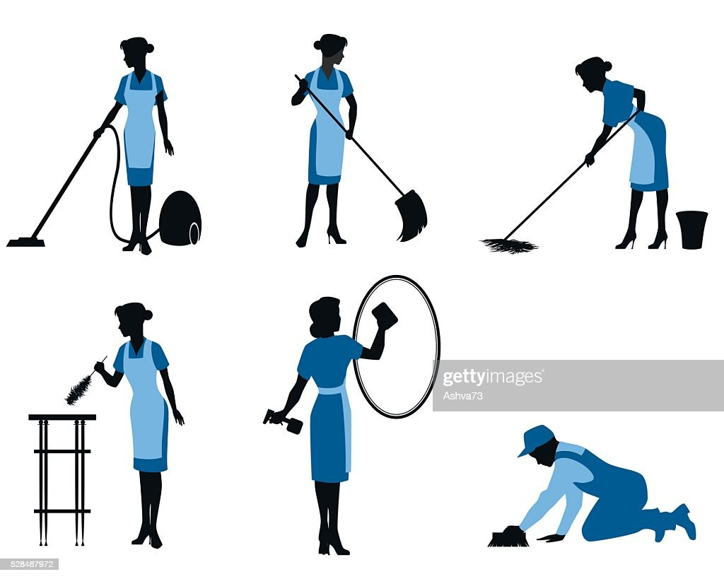 Six cleaning workers