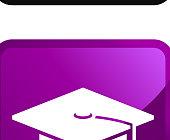 six colorful school graduation icons