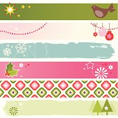 Six festive christmas website/blog banner