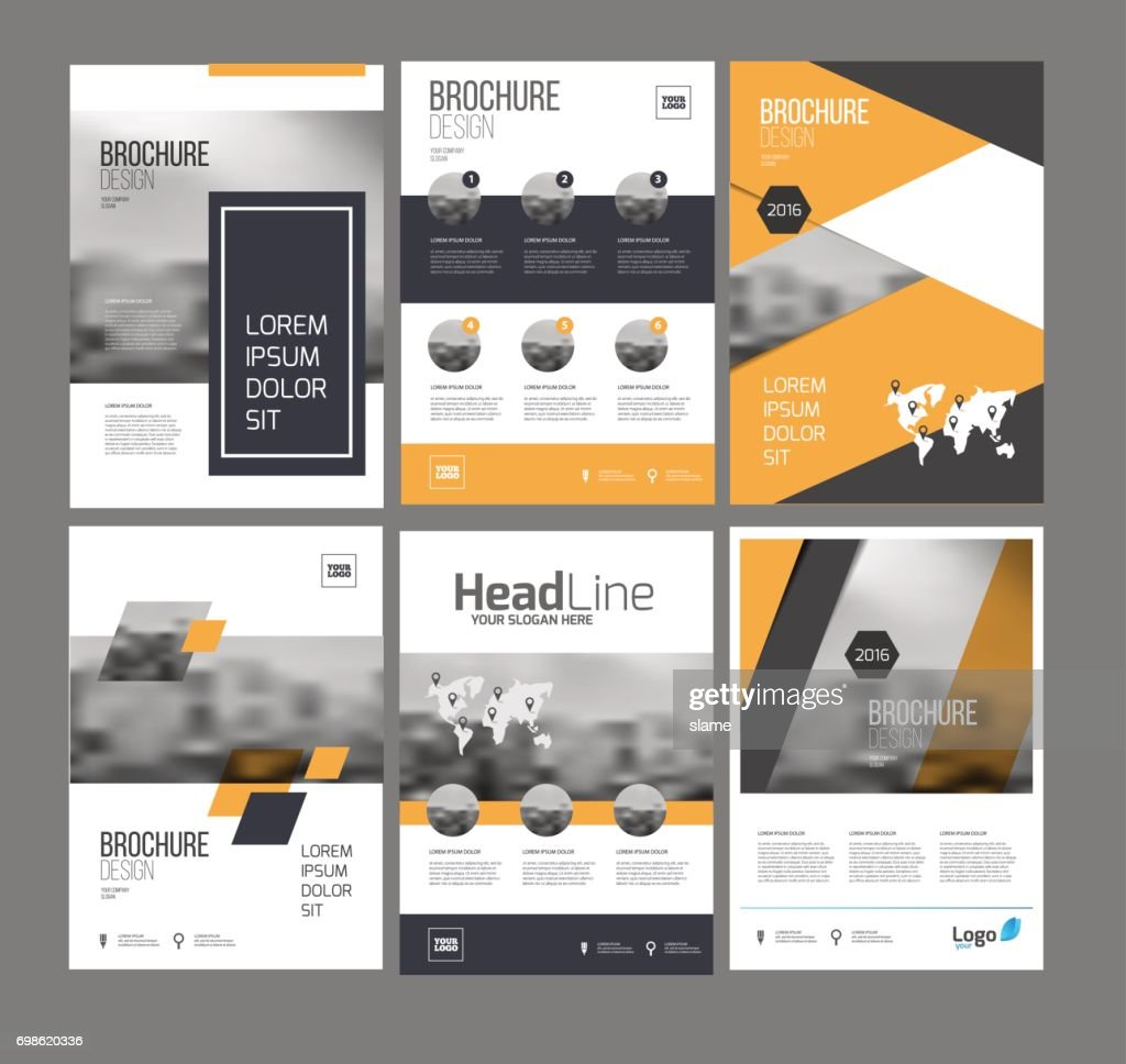 Six flyer marketing templates with photo, text and map