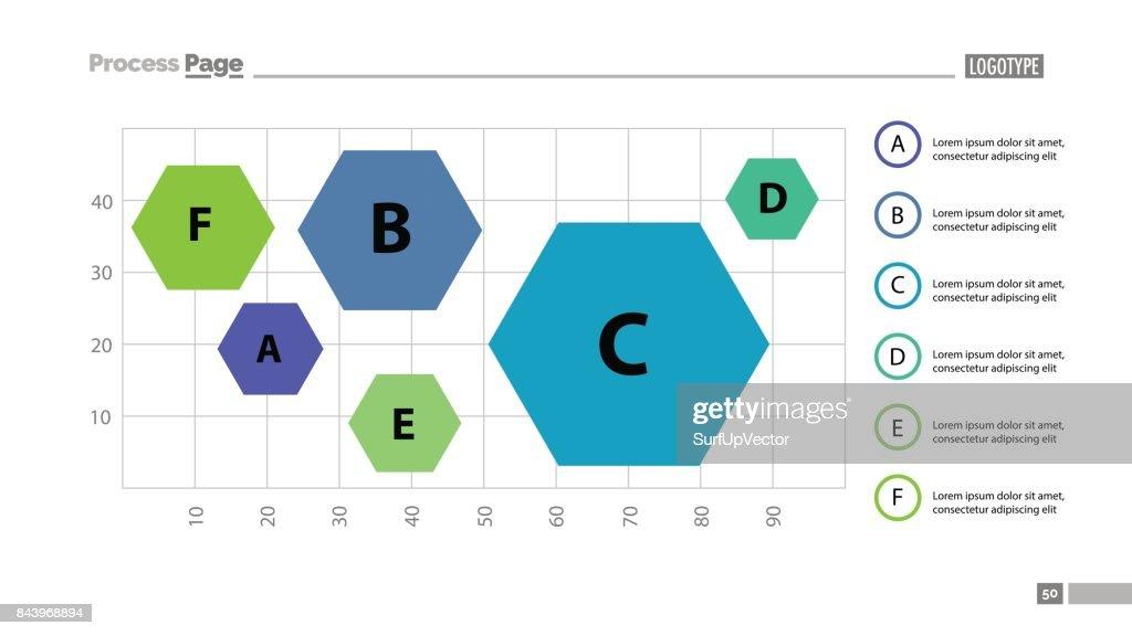 Schieben Sie Sechs Sechsecke Auf Diagramm Vorlage Vektorgrafik ...