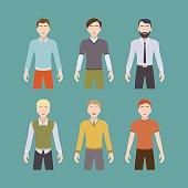 Six male characters