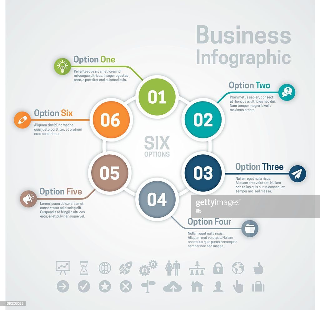 Six Option Business Infographic Chart