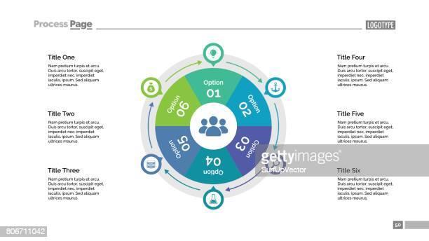 Six Options Cycle Slide Template