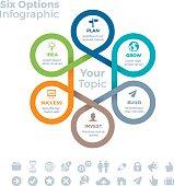 Six Options Infographic