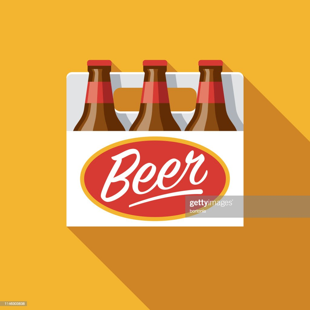 Six Pack Beer Flat Design Icon High Res Vector Graphic Getty Images