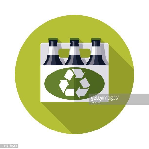 6パックリサイクルアイコン - 6缶パック点のイラスト素材/クリップアート素材/マンガ素材/アイコン素材