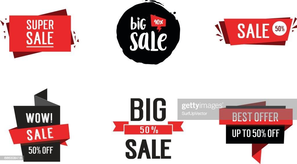 Six Sale Inscriptions Set
