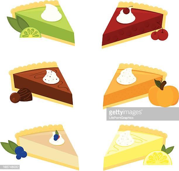 Six Scrumptious Pies