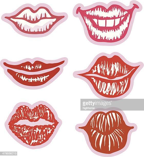 Six Sexy Lips (vectors)