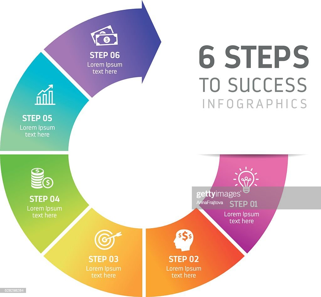 Six Steps Infographics - Success