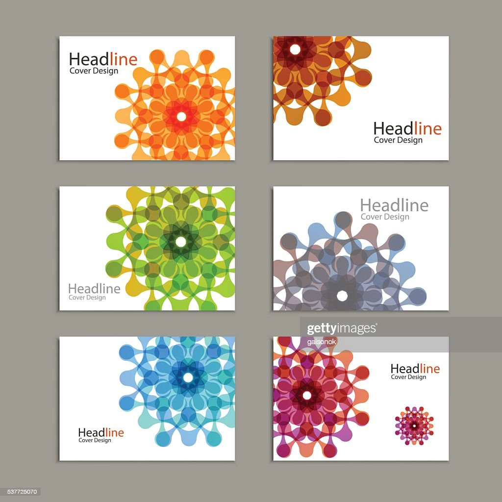 Six Vector pattern brochure with abstract figures