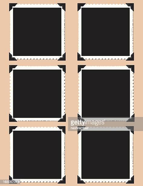 Six vintage photo frames