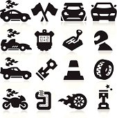 Sixteen different icons that represent racing
