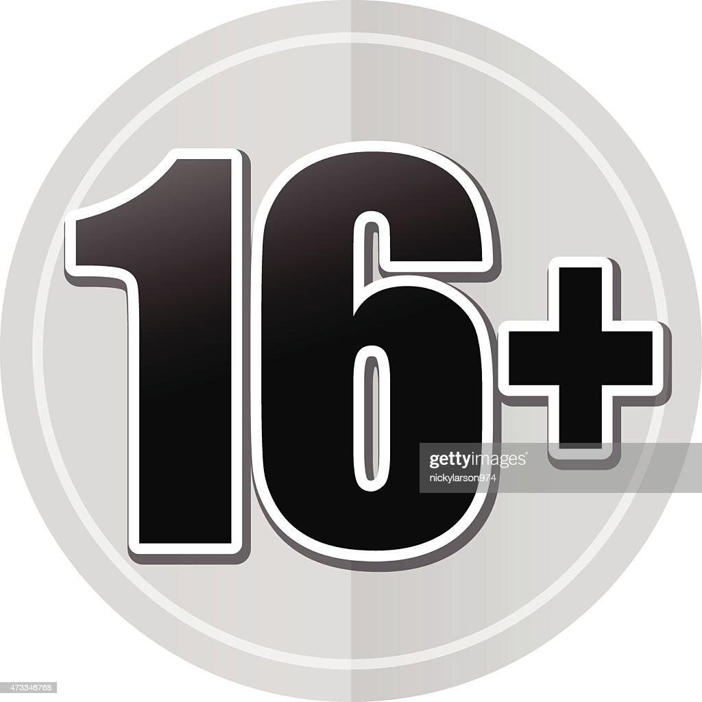sixteen sticker icon