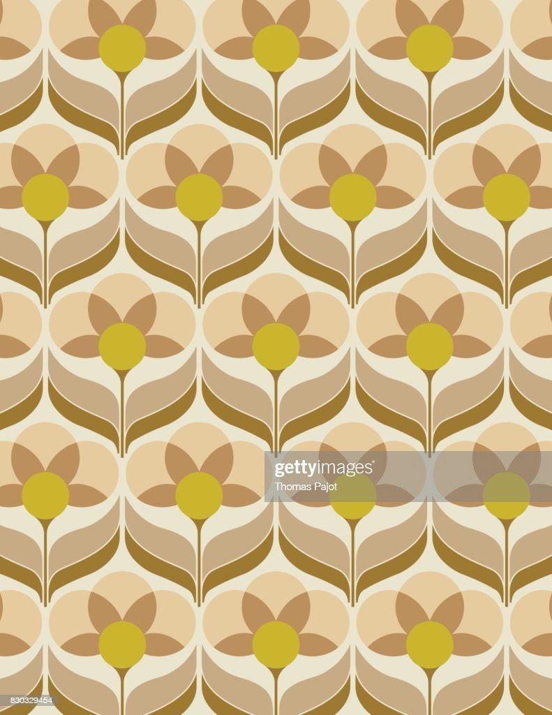 Sixties flower wallpaper