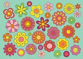 Sixties flowers
