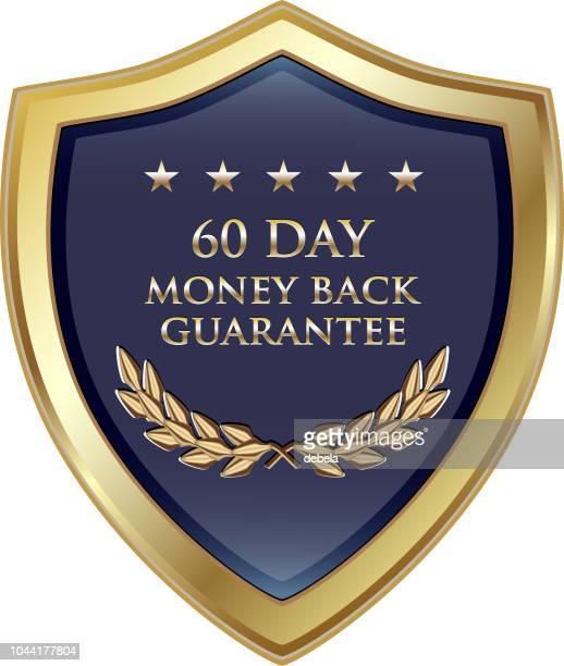Sixty Day Money Back Guarantee Luxury Gold Shield