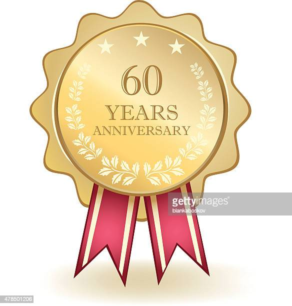 Sessenta anos de aniversário medalha