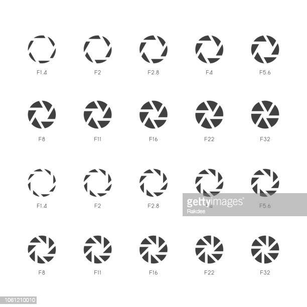 size of aperture icons - bold gray series - large format camera stock illustrations, clip art, cartoons, & icons