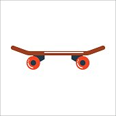 Skateboard board vector isolated