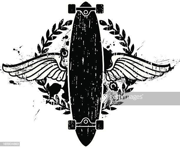 グランジエンブレムスケートボード