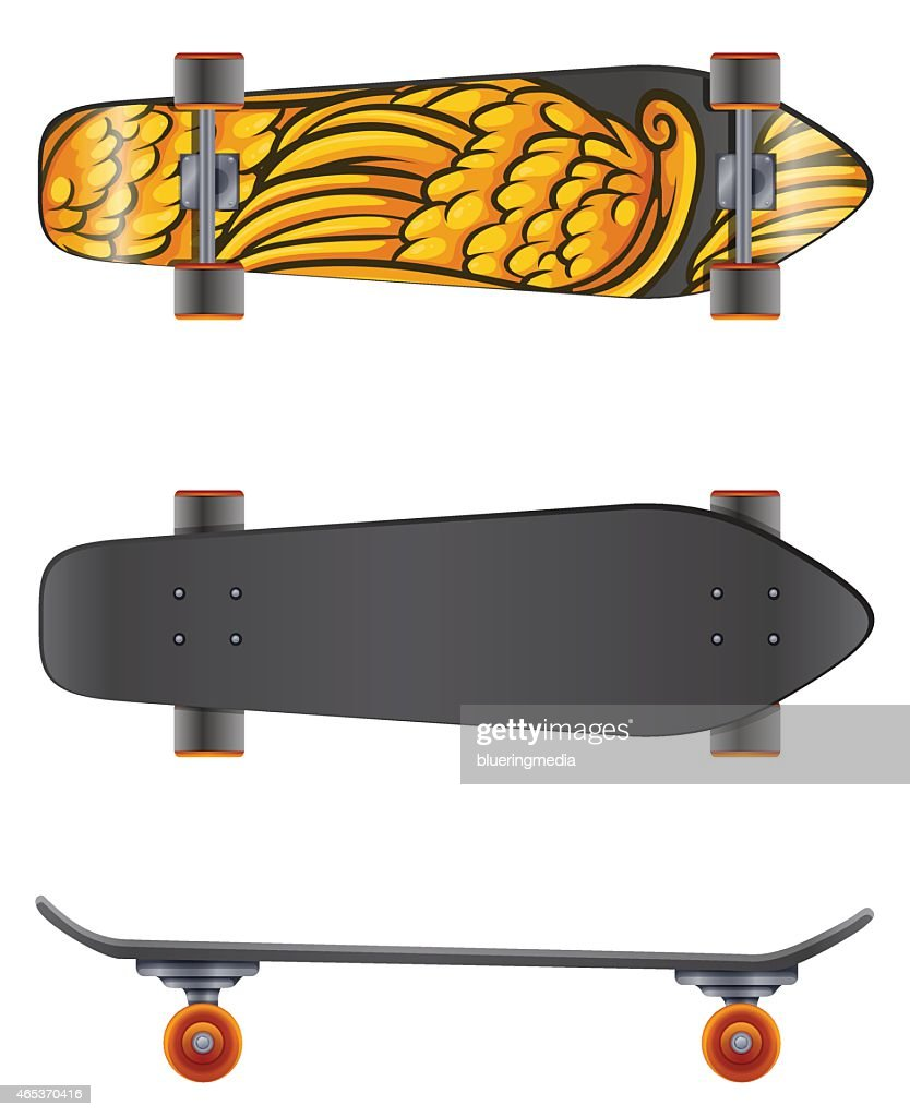 Skateboard in different angles