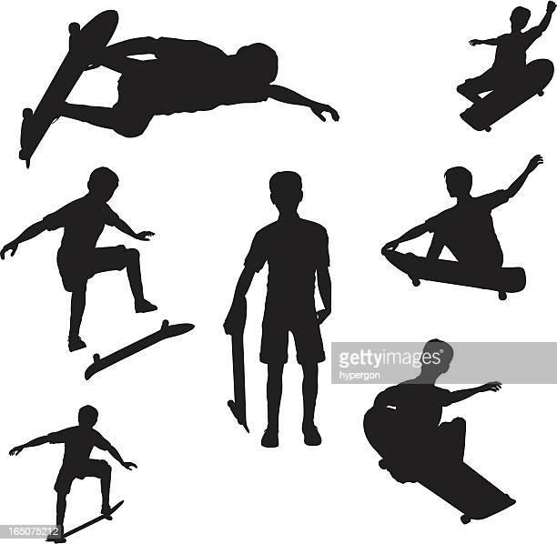 スケートボードのシルエットコレクション