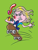 Skateboarder Cartoon