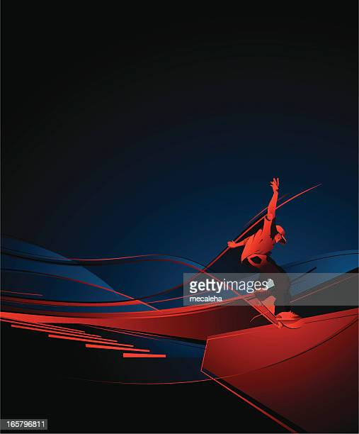 ilustraciones, imágenes clip art, dibujos animados e iconos de stock de artístico - salto de longitud