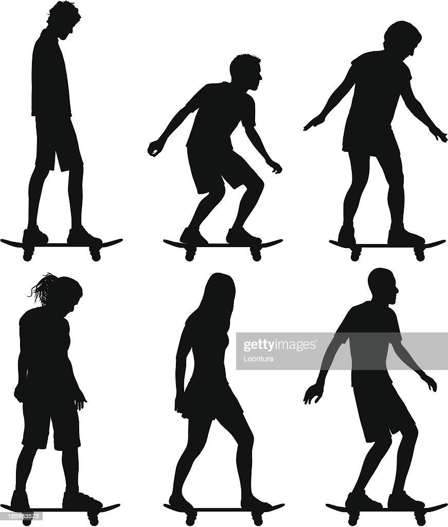Skaters : Stock Illustration