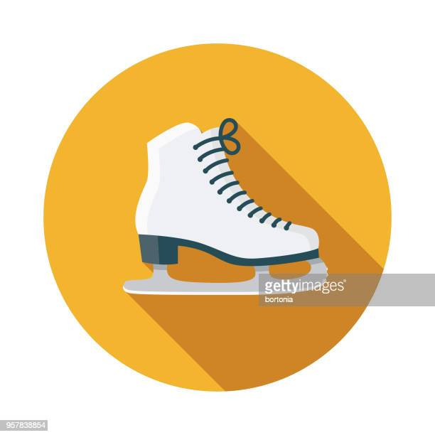 skating flat design sports icon with side shadow - figure skating stock illustrations
