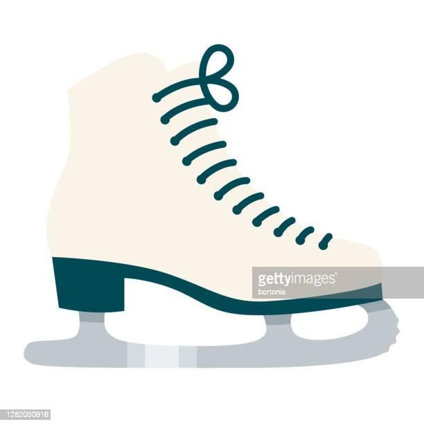 stockillustraties, clipart, cartoons en iconen met pictogram schaatsen op transparante achtergrond - schaats ijs