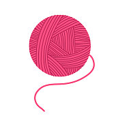 A skein of pink yarn.