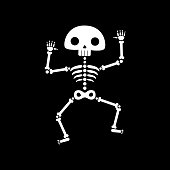 Skeleton dance. Funny dancing skeleton illustration