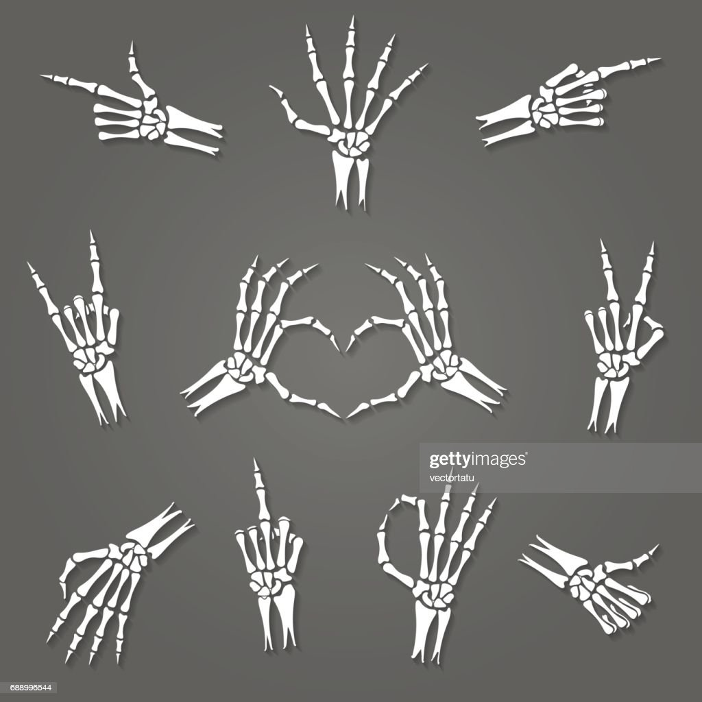 Skeleton hand signs