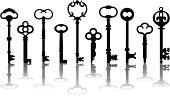 Skeleton Key Icons