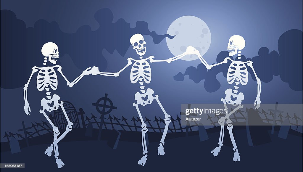 Skeleton Macabre Dance : stock illustration