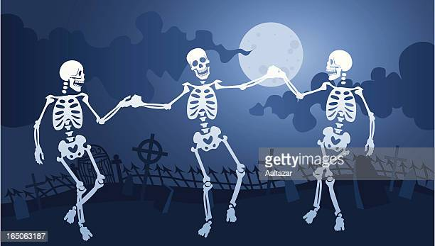 Skeleton Macabre Dance