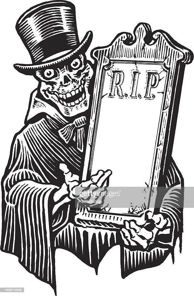 Well known Skeleton Rip Sign Board Halloween Vector Art | Getty Images AA58