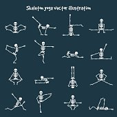 Skeleton yoga vector illustration