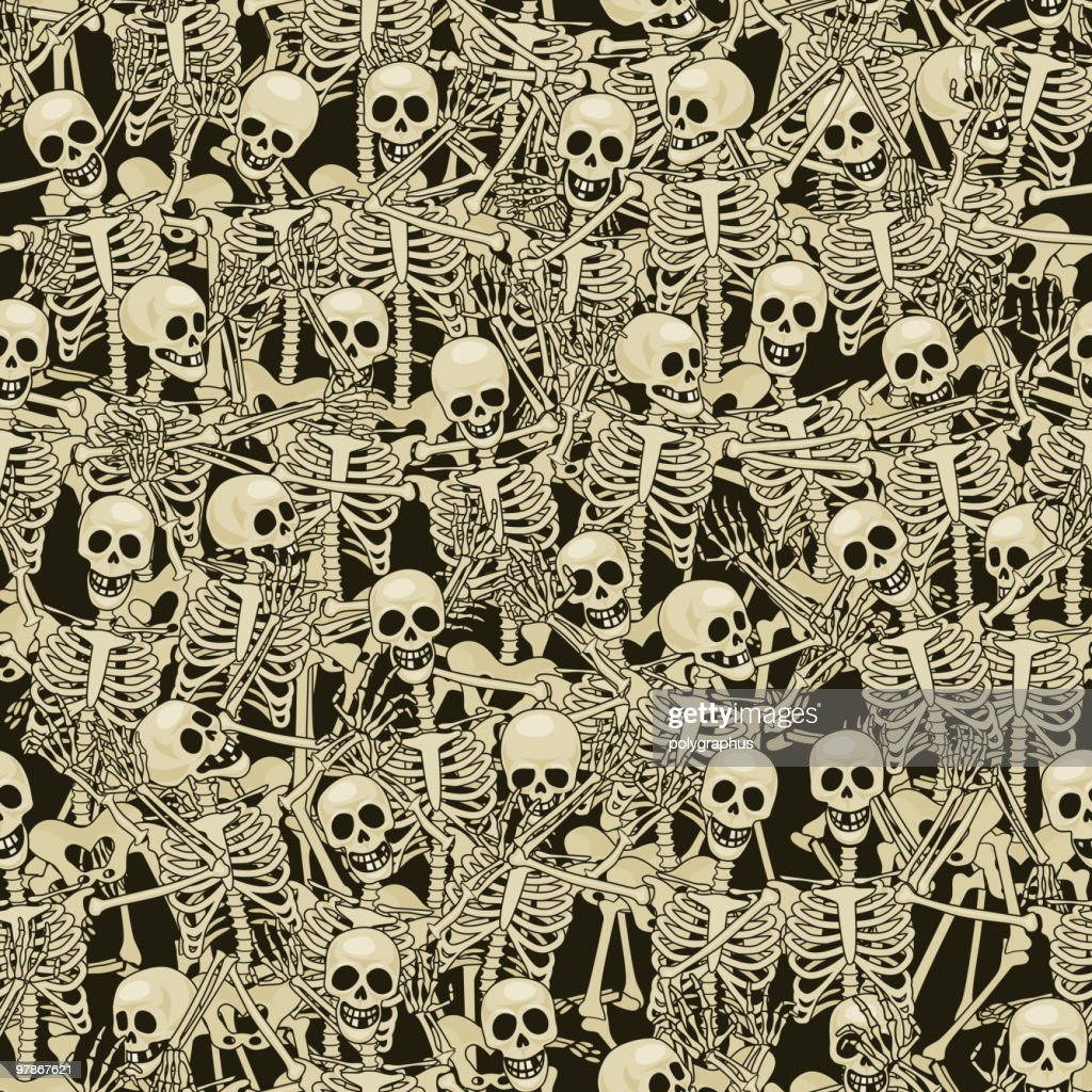Skeletons seamless background