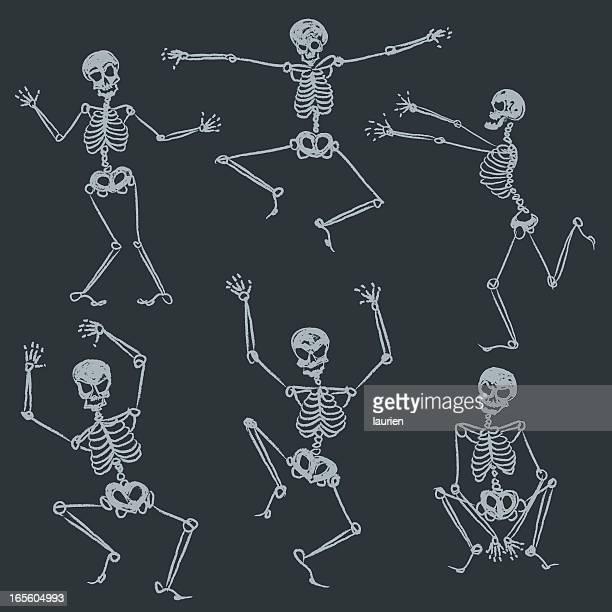 ilustraciones, imágenes clip art, dibujos animados e iconos de stock de trapos sucios - esqueleto humano
