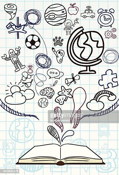 sketch book - diary stock illustrations