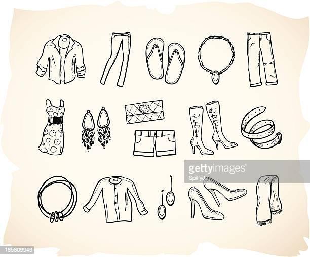 Skizze Kleidung icon Serie 2