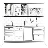 Sketch cuisine.  Vector illustration