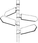 Sketch Directional Sign