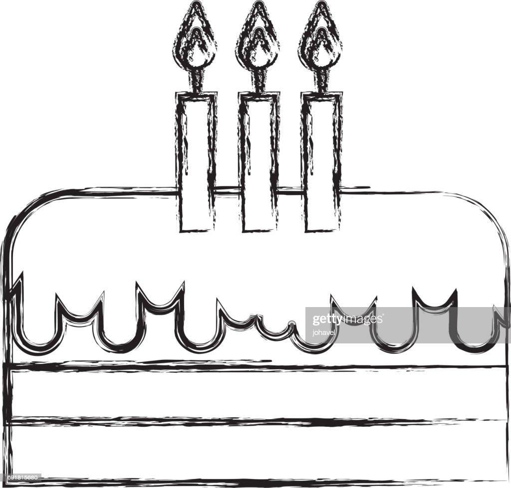 Phenomenal Sketch Draw Birthday Cake Cartoon High Res Vector Graphic Getty Funny Birthday Cards Online Alyptdamsfinfo