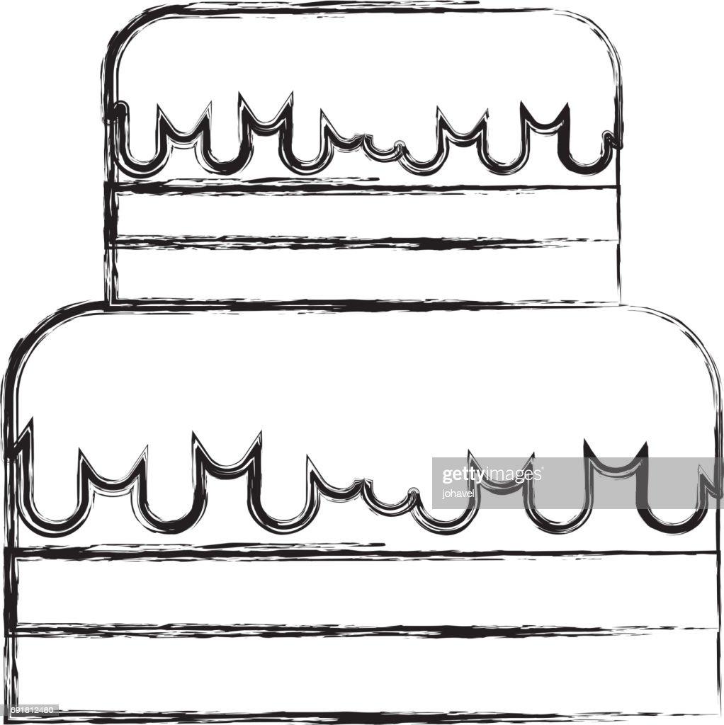 Skizze Zu Zeichnen Te Kuchen Cartoon Vektorgrafik Getty Images